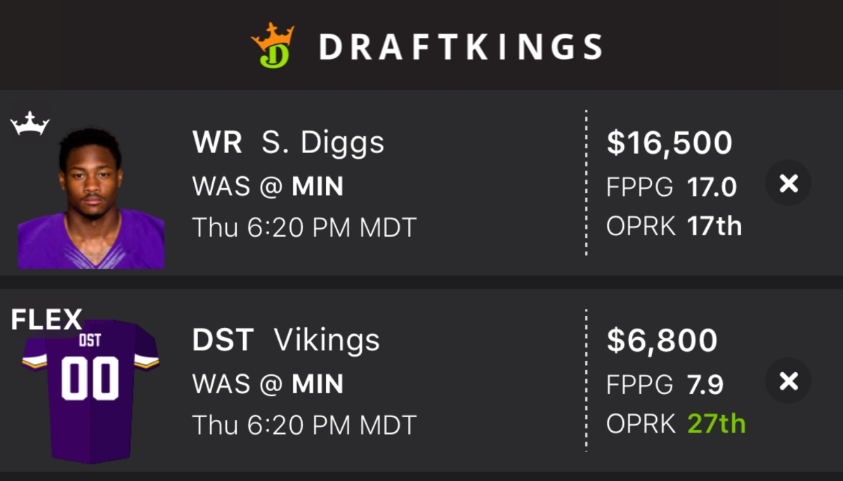 DraftKings Thursday Night Football Showdown