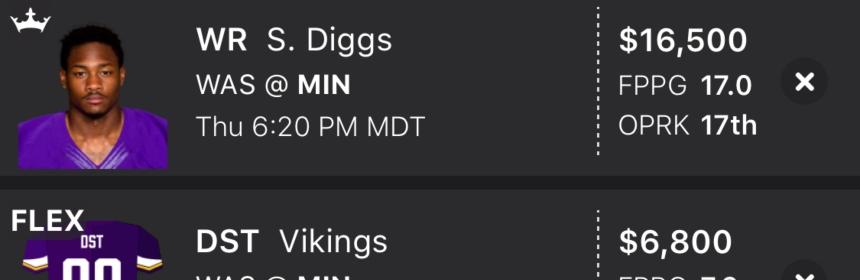 DraftKings Thursday Night Football Showdown